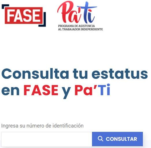 Los Beneficiarios de FASE y Pa' ti podrán ver historial de depósitos en nuevo portal
