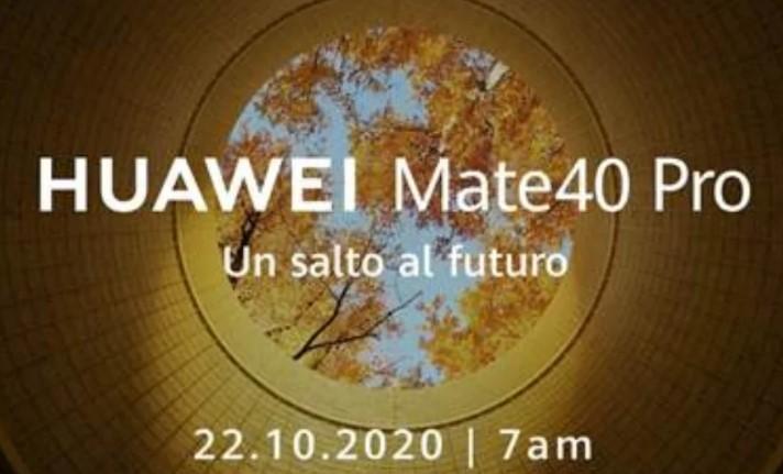Huawei lanzará el Mate 40 el próximo 22 de octubre