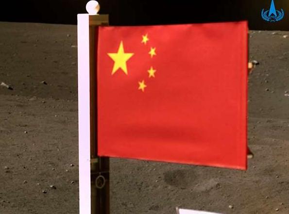 China se convierte en el segundo país en plantar su bandera en la Luna