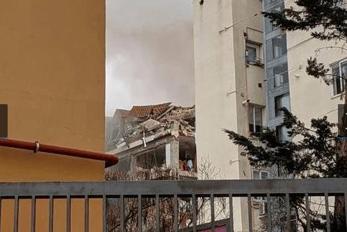 Madrid fuerte explosión derrumba parte de un edificio en el centro de la ciudad