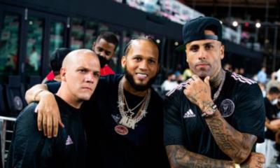 El Alfa entre celebridades latinas que brillaron como futbolistas en el estadio de Beckham en Miami